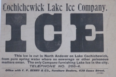 Cochichewick Lake Ice Co.