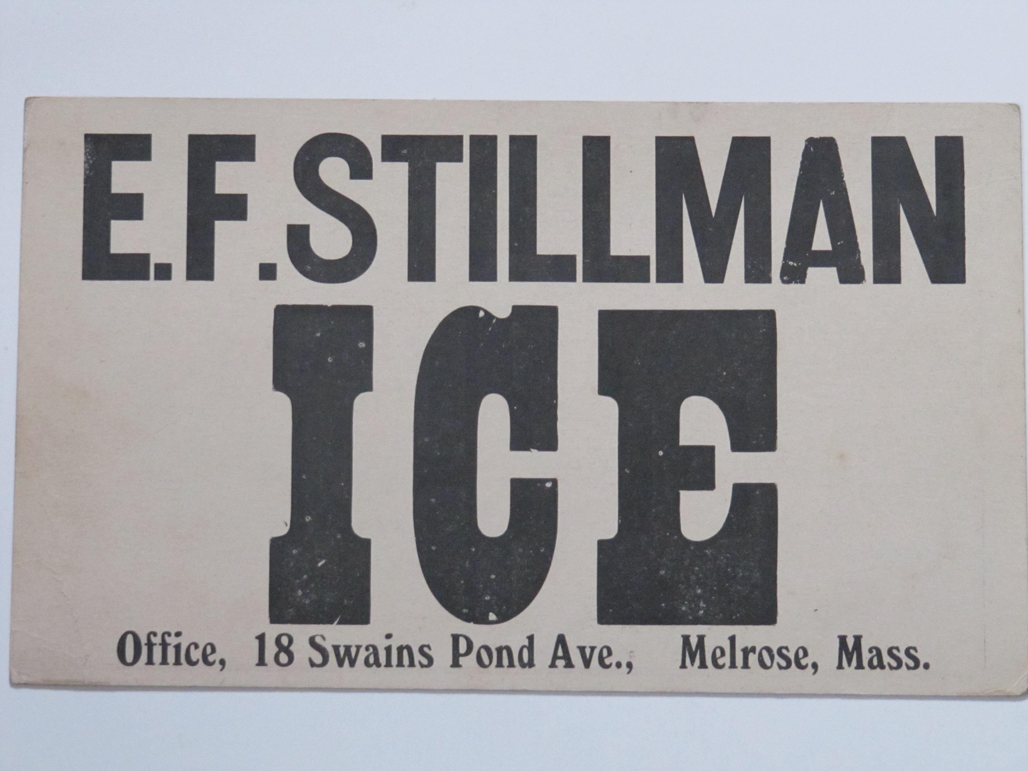 E.F.Stillman Ice