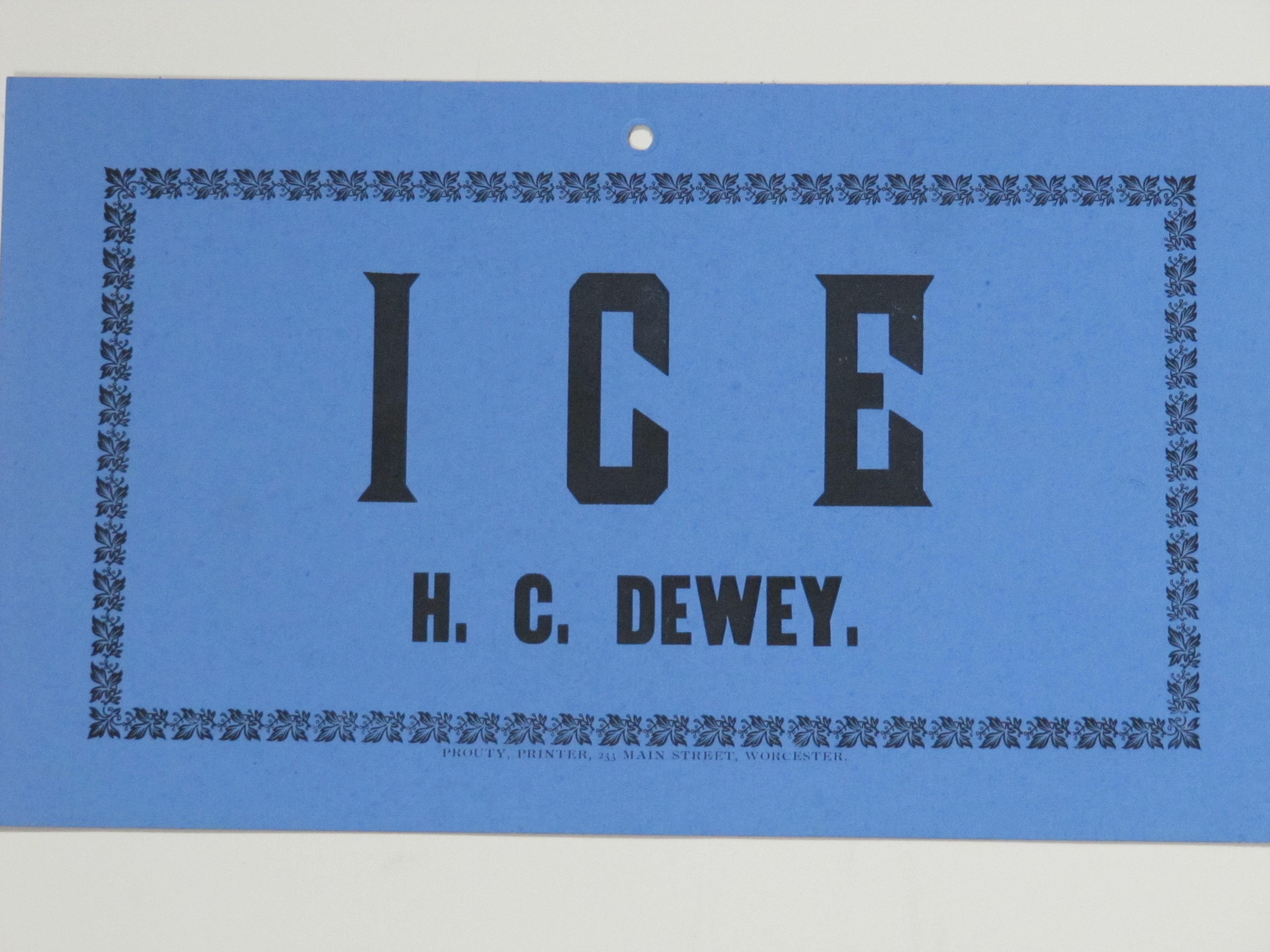 H.C.Dewey Ice