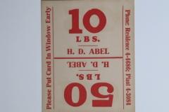 H D Abel b