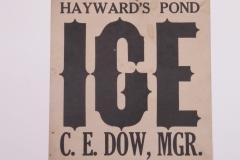 Hayward's Pond Ice