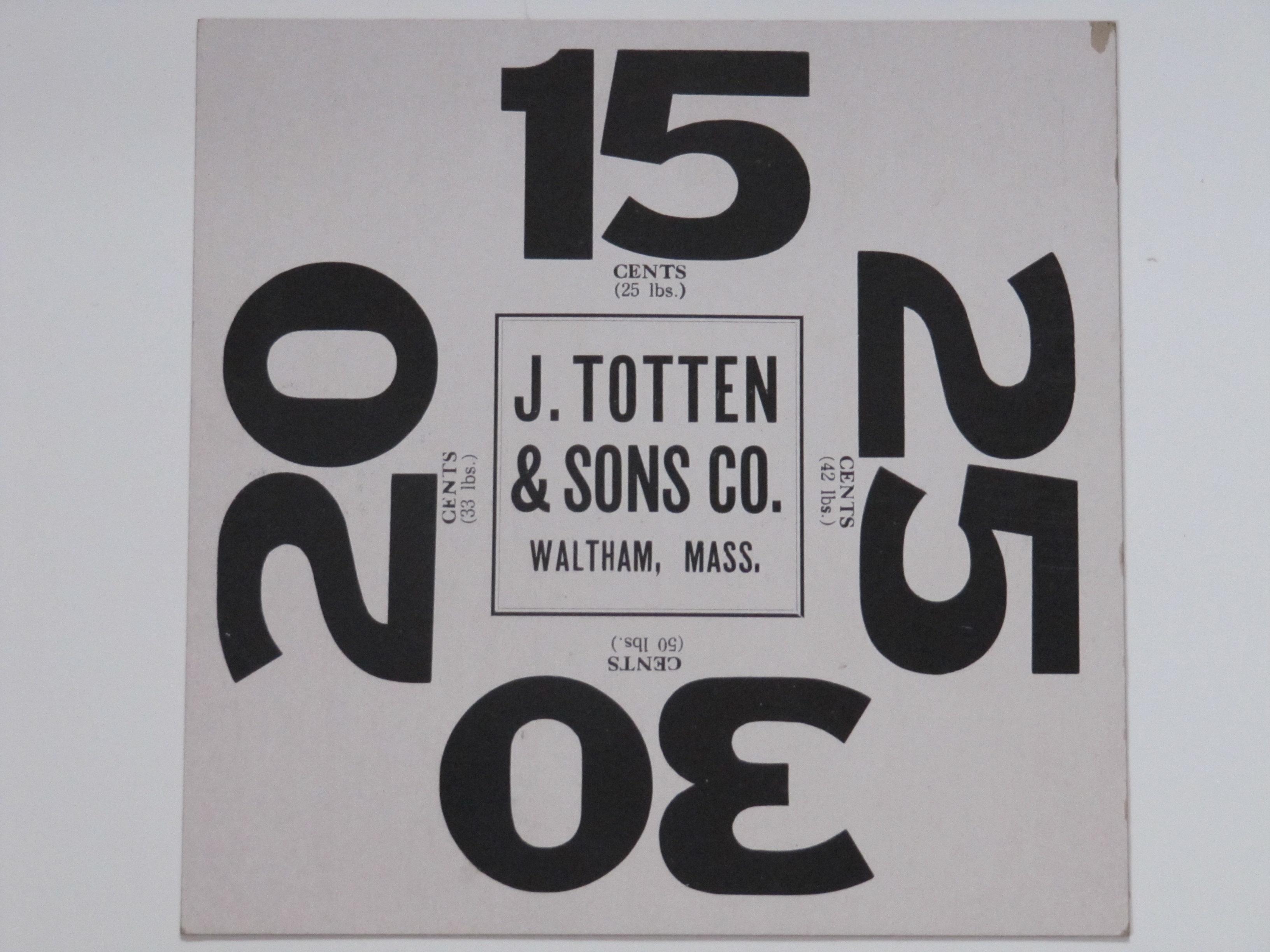 J. Totten & Sons Waltham Mass