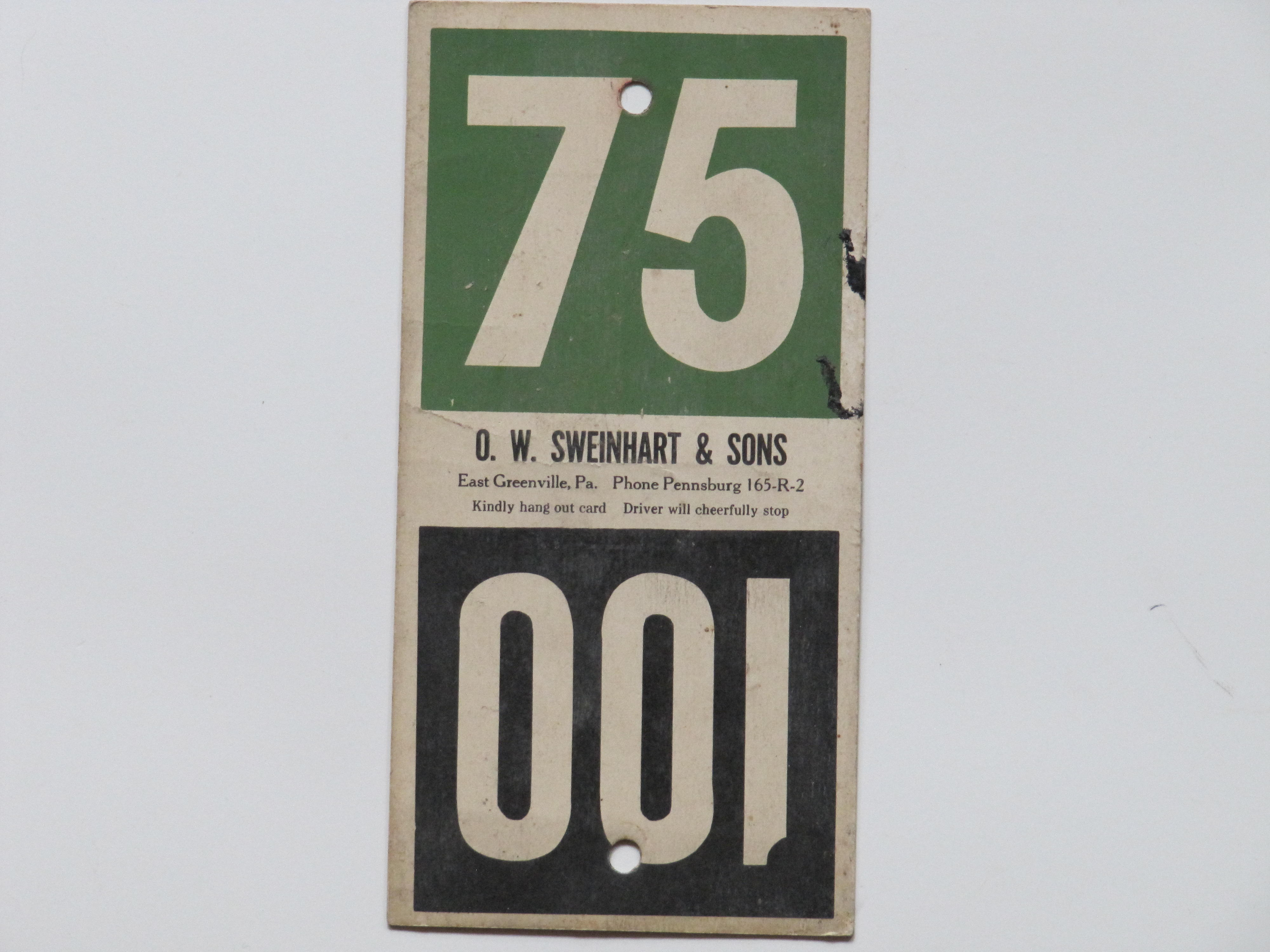 O.W. Sweinhart & Sons