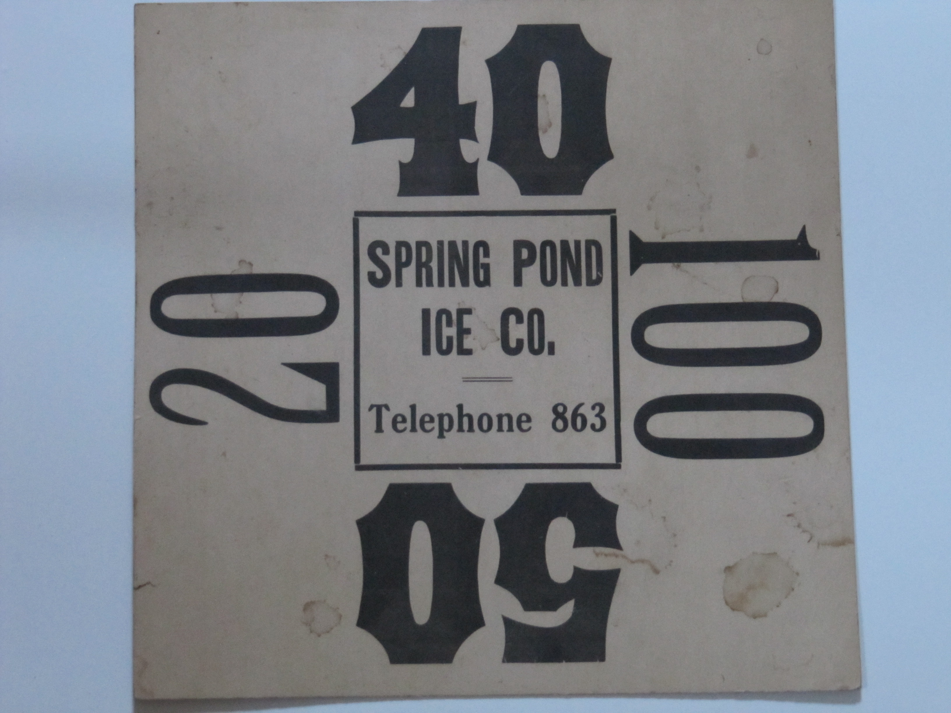 Spring Pond Ice Co.