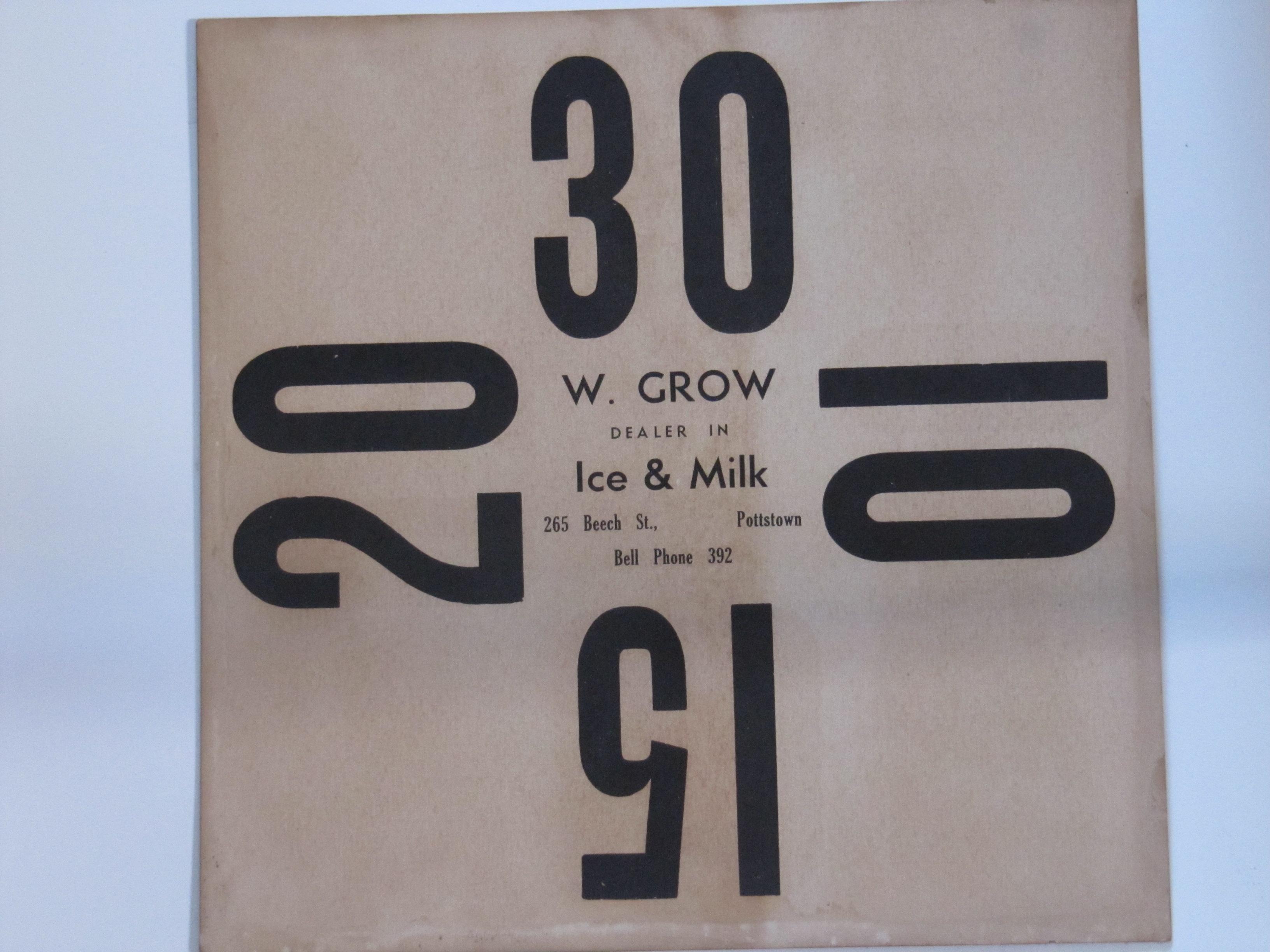 W. Grow Ice & Milk