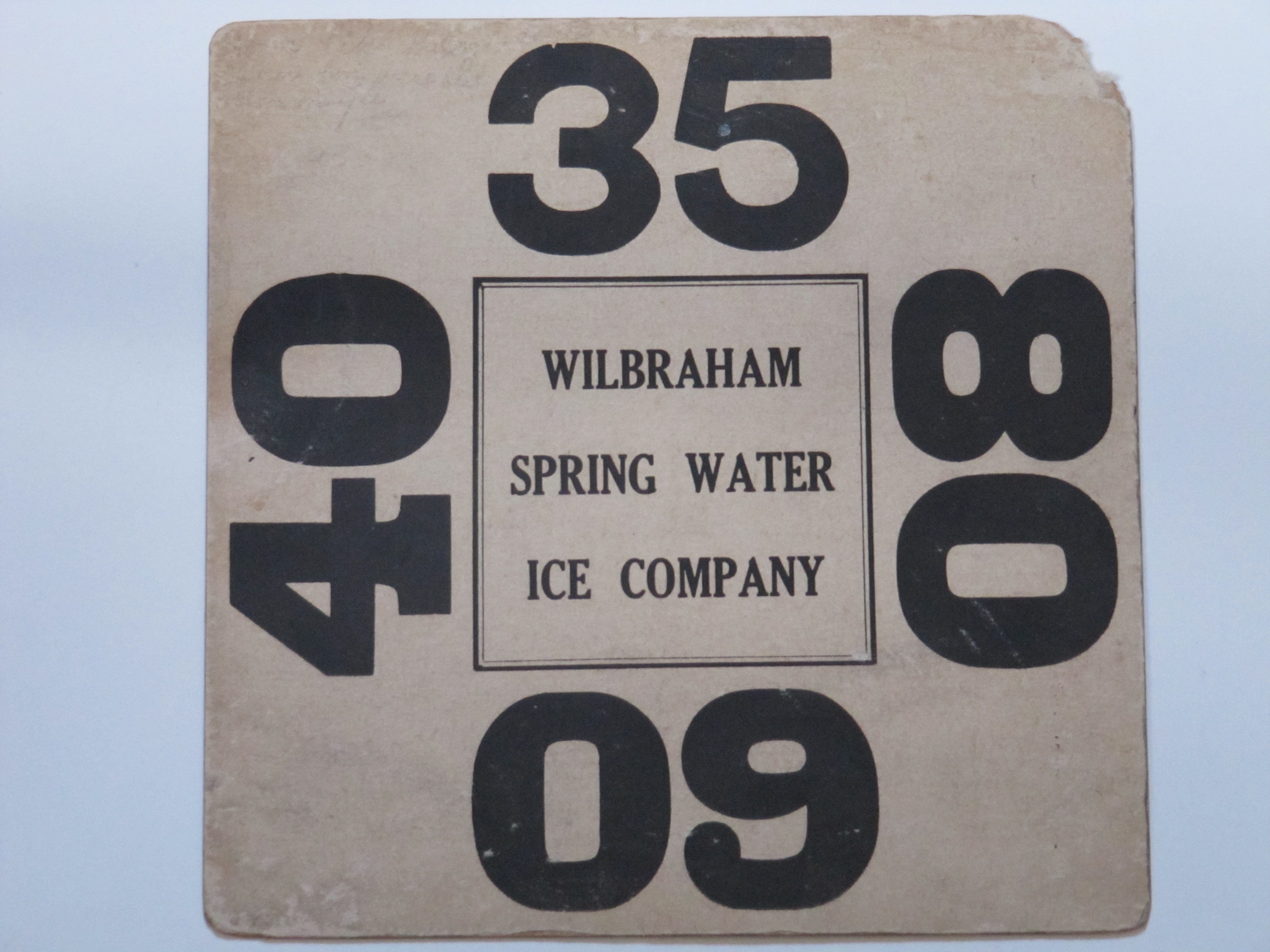 Wilbraham Spring Water Ice CO.