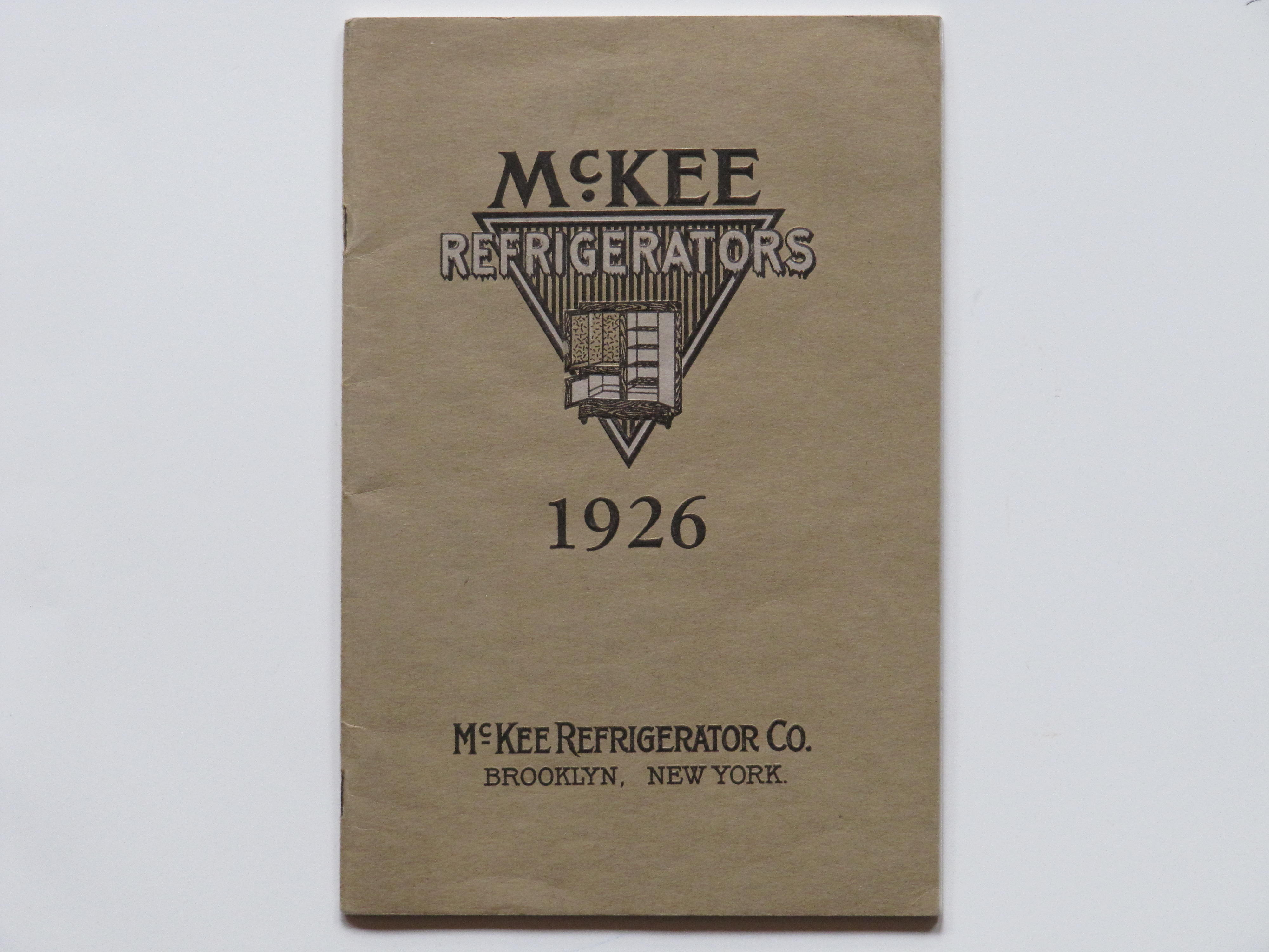 McKee Refrigerator Corp 1926 Brooklyn NY
