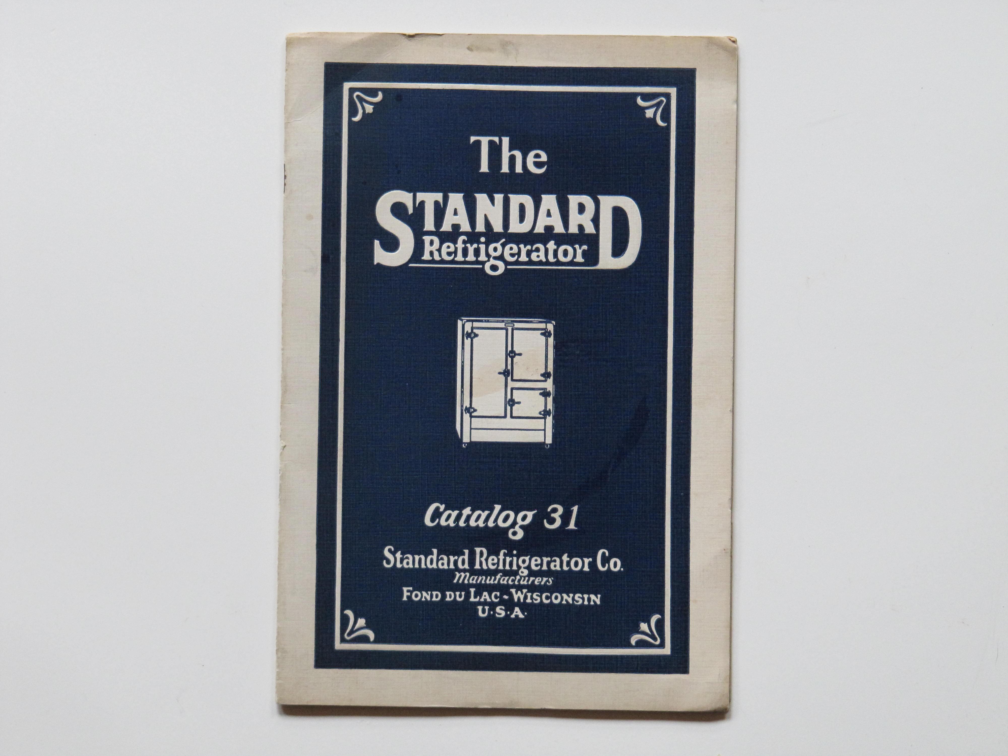 Standard Refrigerator Co Fond Du lac Wisconsin