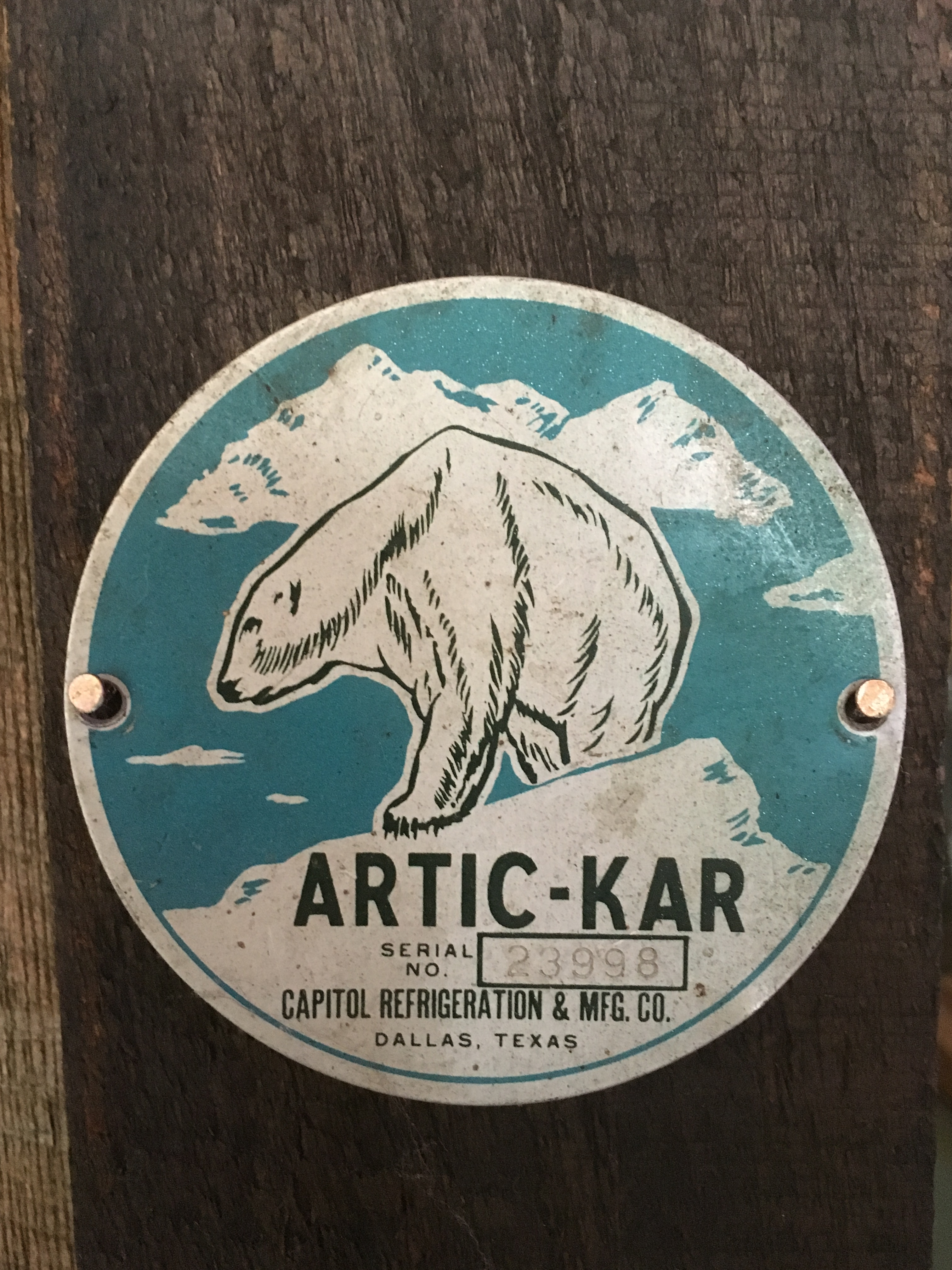 Artic-Kar name plate