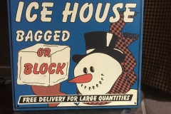 Novelty Ice Sign