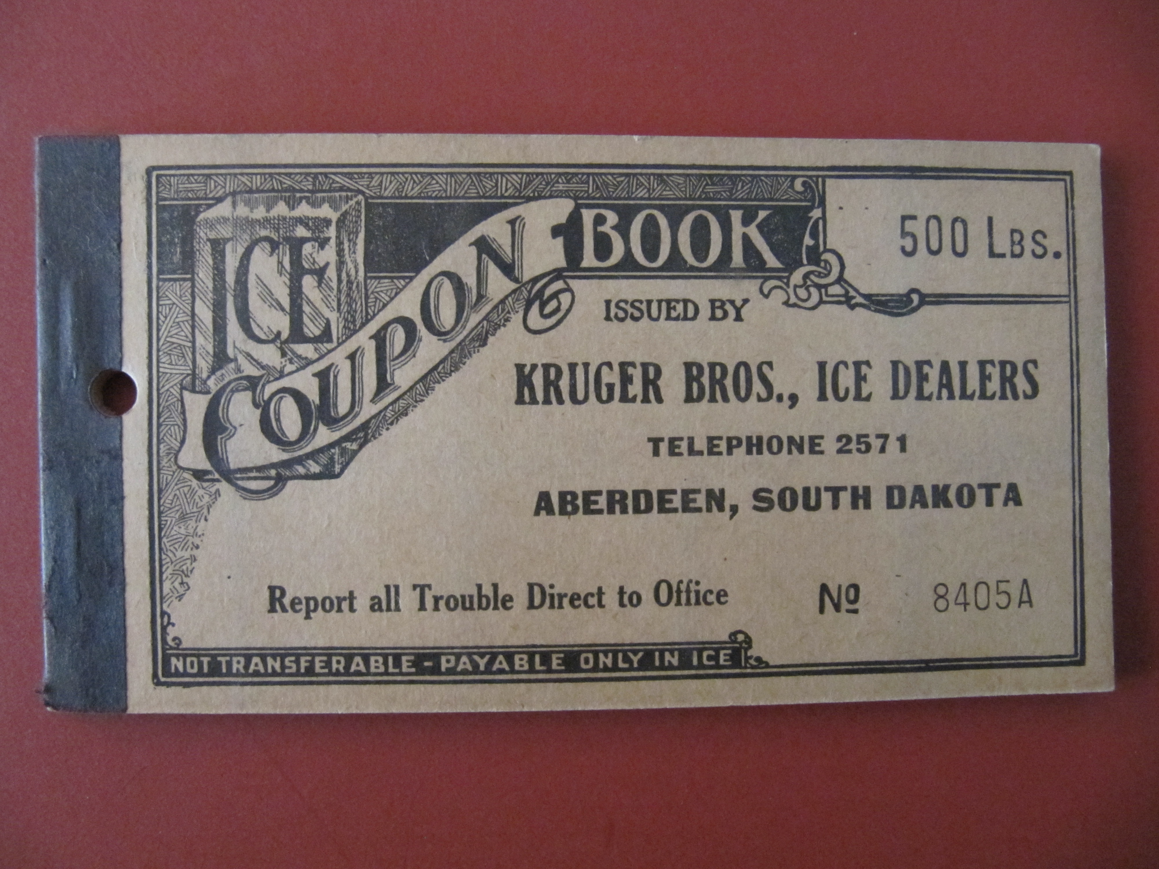 Ice Coupon Books - Ice Box Memories